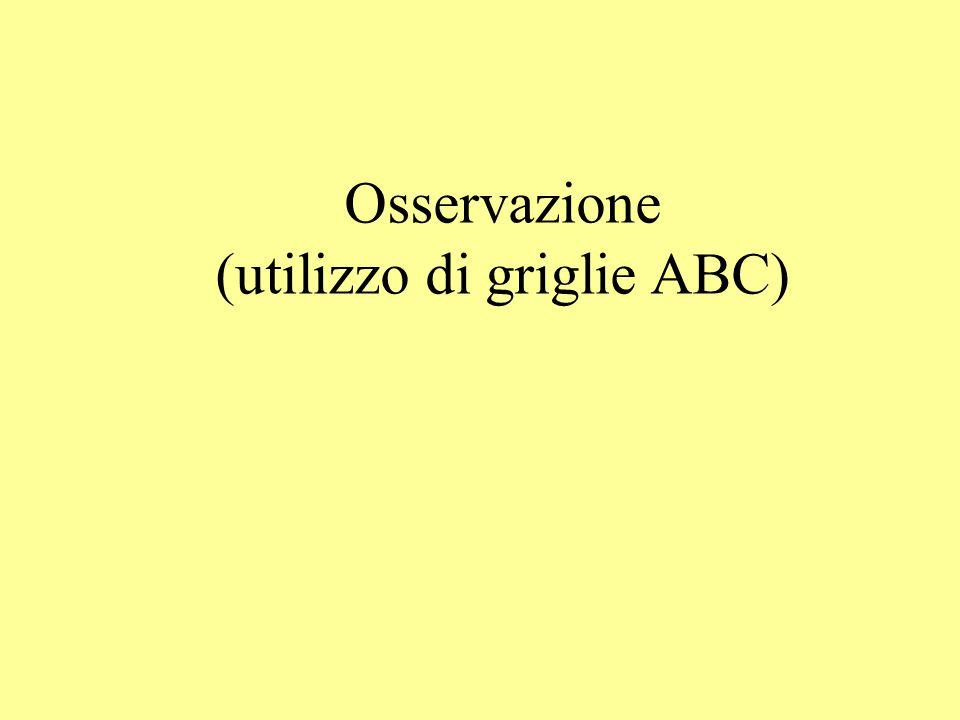 Osservazione (utilizzo di griglie ABC)