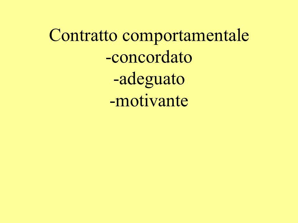 Contratto comportamentale -concordato -adeguato -motivante