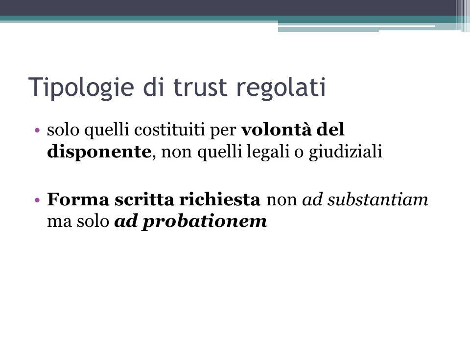 Tipologie di trust regolati