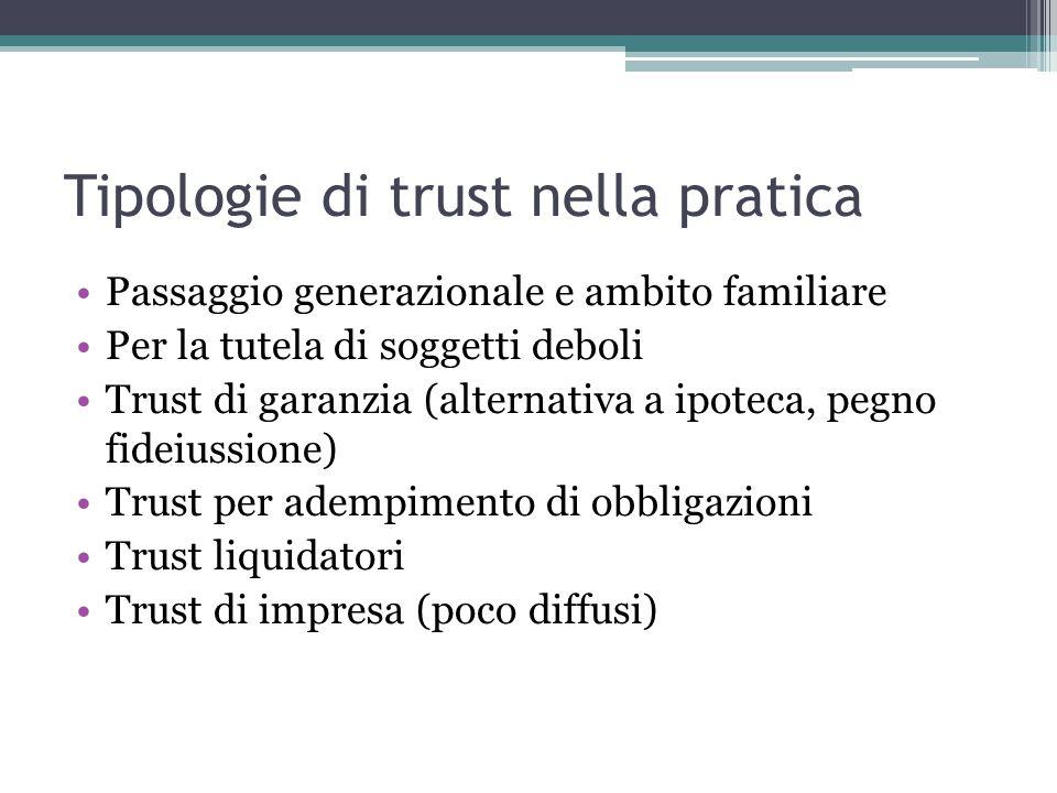 Tipologie di trust nella pratica