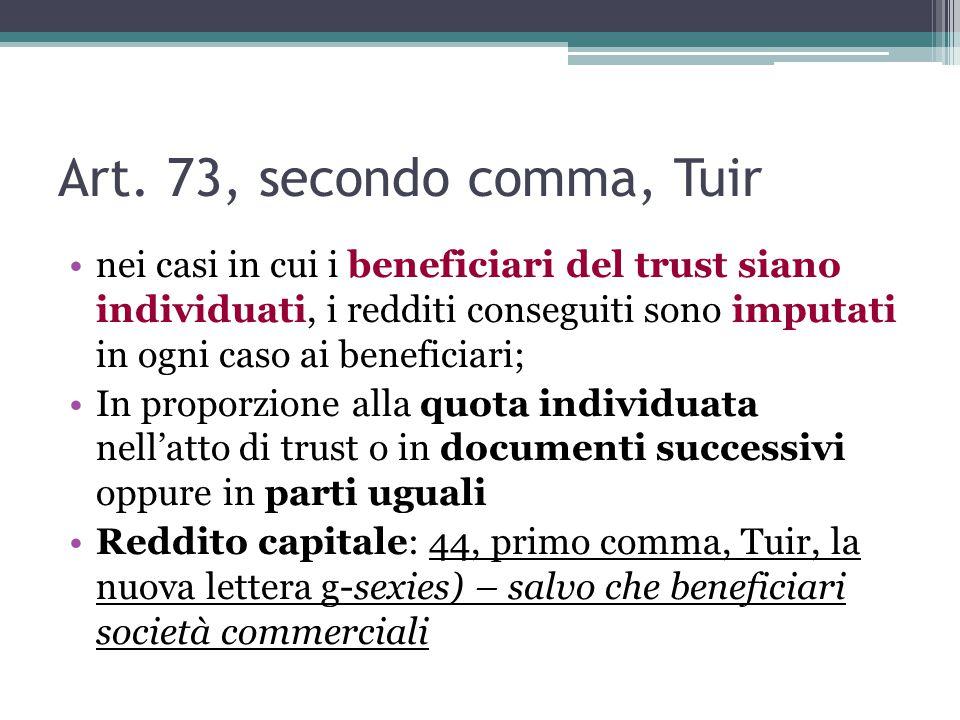 Art. 73, secondo comma, Tuir