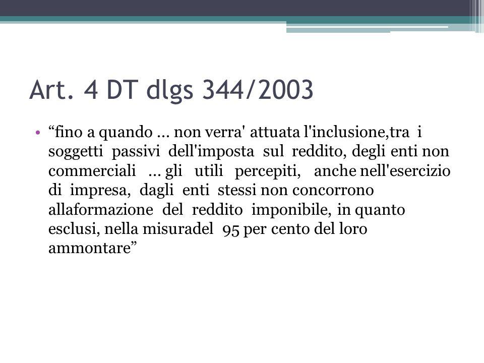 Art. 4 DT dlgs 344/2003