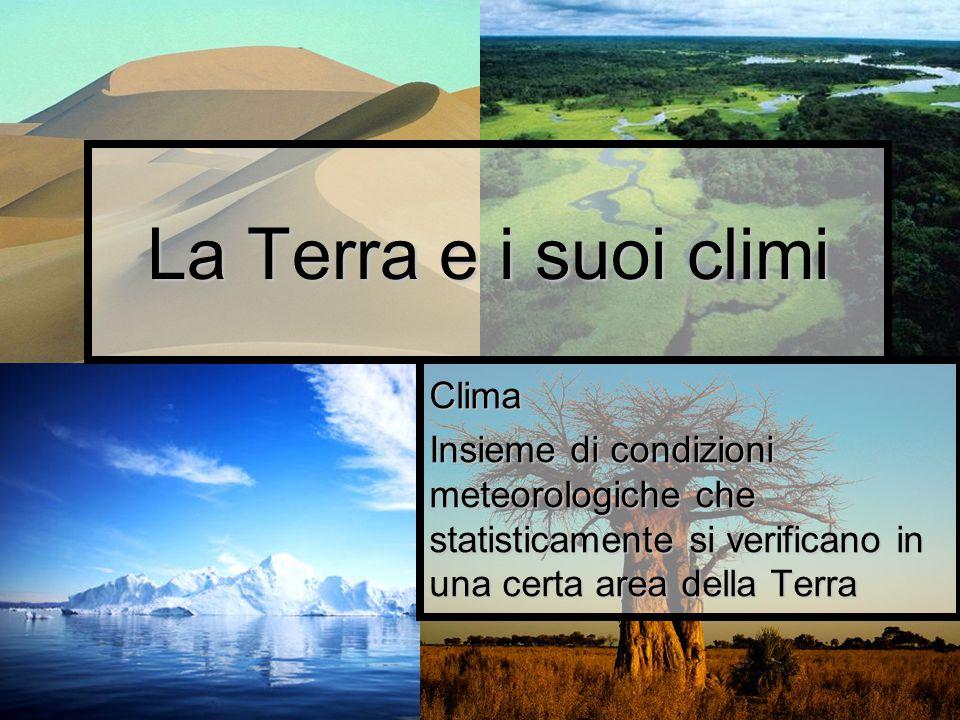 La Terra e i suoi climi Clima