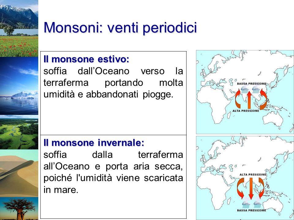 Monsoni: venti periodici