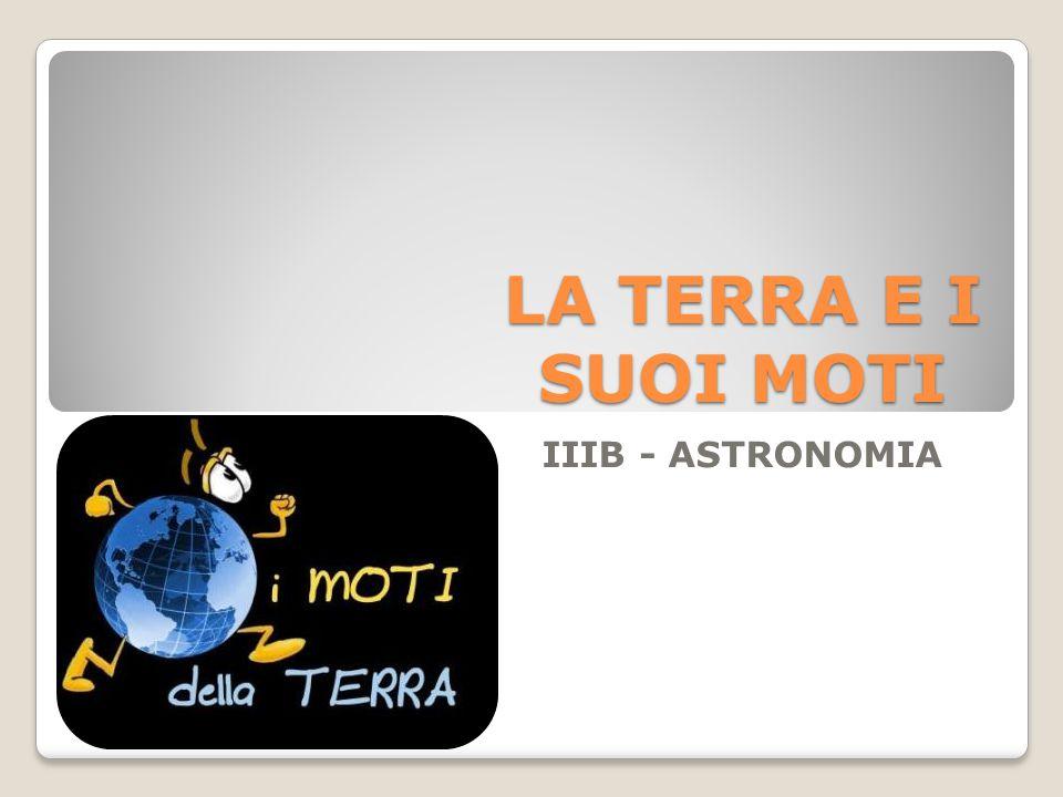 LA TERRA E I SUOI MOTI IIIB - ASTRONOMIA
