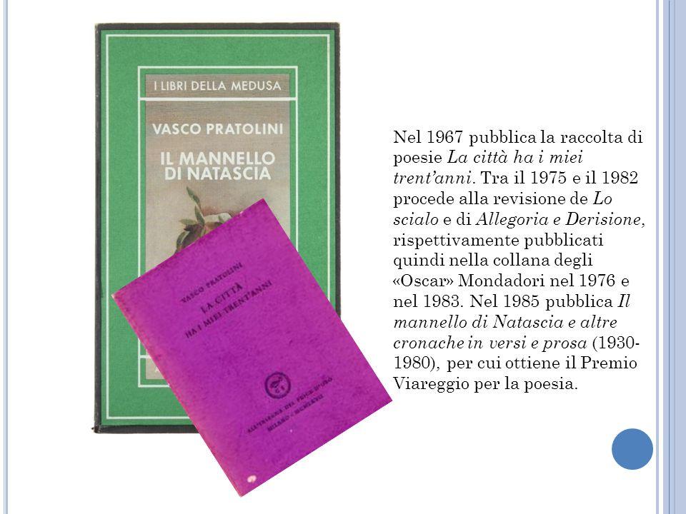 Nel 1967 pubblica la raccolta di poesie La città ha i miei trent'anni
