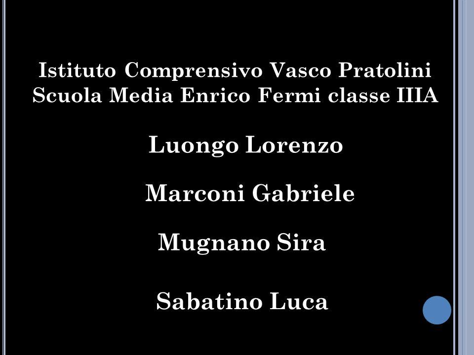 Luongo Lorenzo Marconi Gabriele Mugnano Sira Sabatino Luca