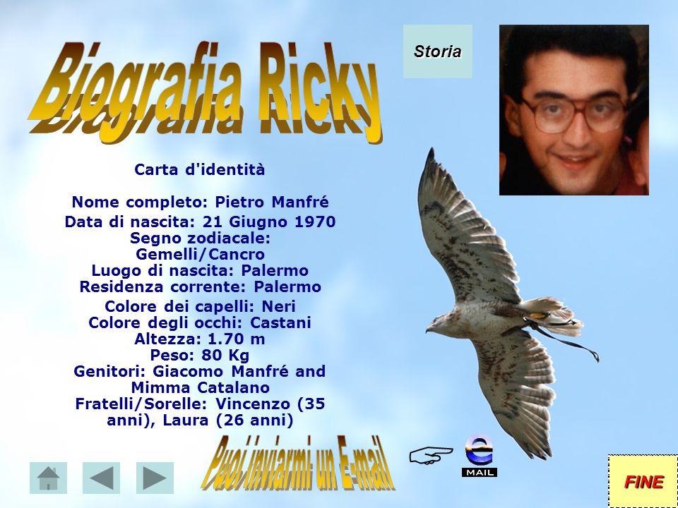 Carta d identità Nome completo: Pietro Manfré Puoi inviarmi un E-mail