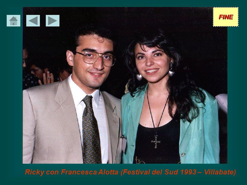 Ricky con Francesca Alotta (Festival del Sud 1993 – Villabate)
