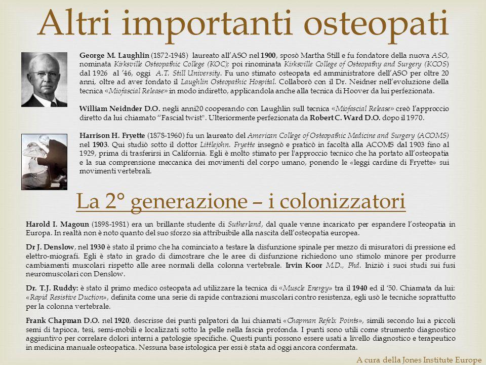 Altri importanti osteopati