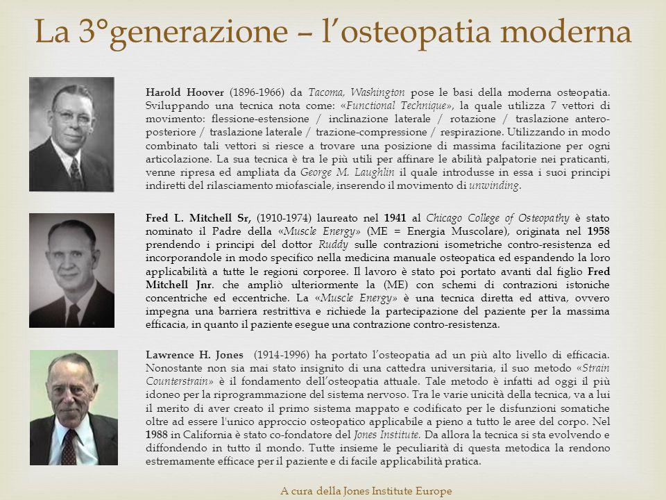 La 3°generazione – l'osteopatia moderna