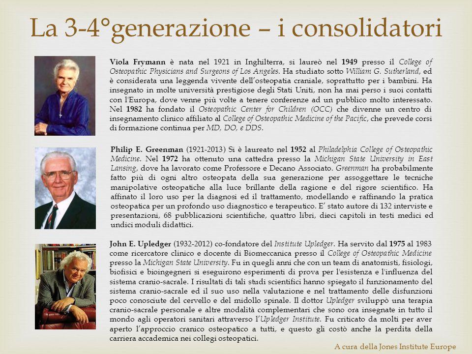 La 3-4°generazione – i consolidatori