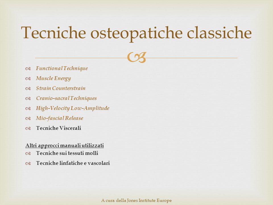 Tecniche osteopatiche classiche