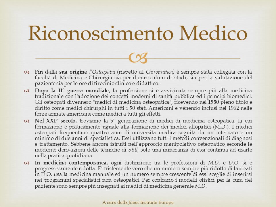 Riconoscimento Medico