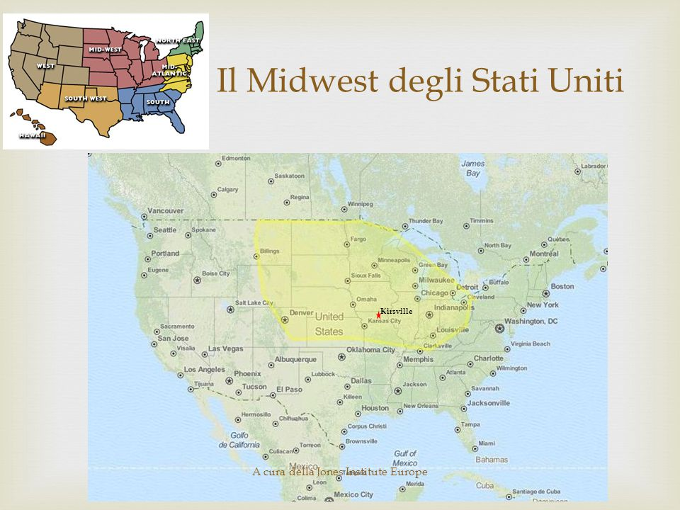 Il Midwest degli Stati Uniti