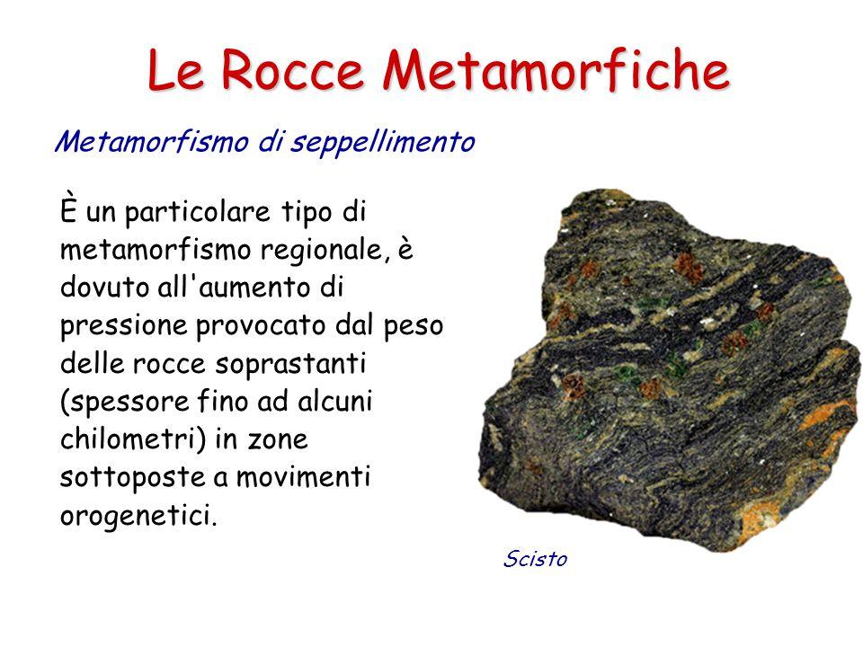 Le Rocce Metamorfiche Metamorfismo di seppellimento