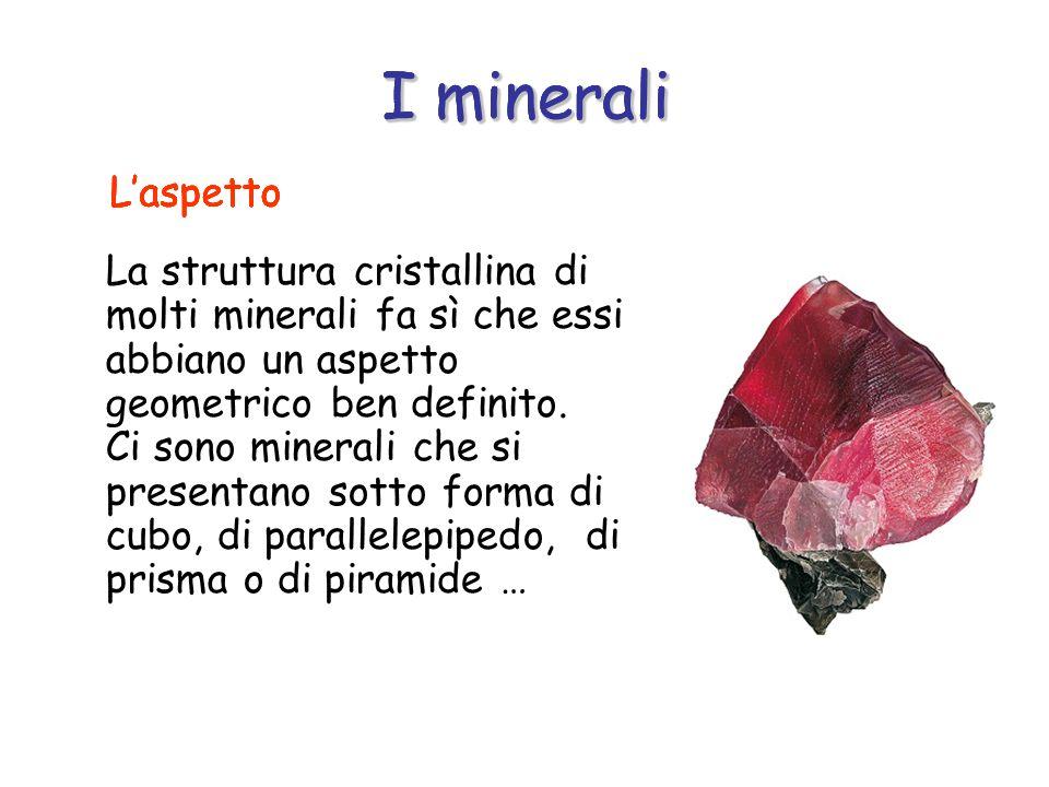 I minerali I minerali I minerali I minerali L'aspetto L'aspetto