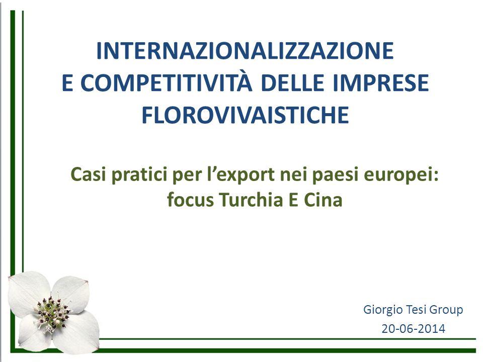 INTERNAZIONALIZZAZIONE E COMPETITIVITÀ DELLE IMPRESE FLOROVIVAISTICHE