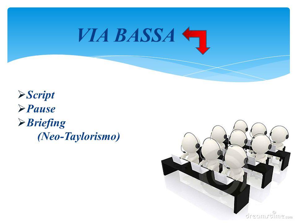 VIA BASSA Script Pause Briefing (Neo-Taylorismo) Script Pause Briefing