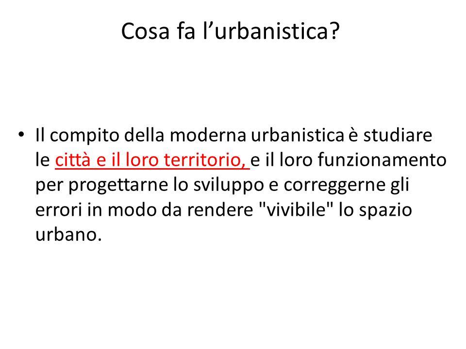Cosa fa l'urbanistica