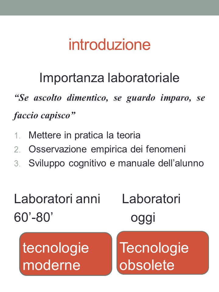 Importanza laboratoriale