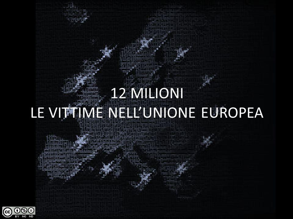 12 MILIONI LE VITTIME NELL'UNIONE EUROPEA