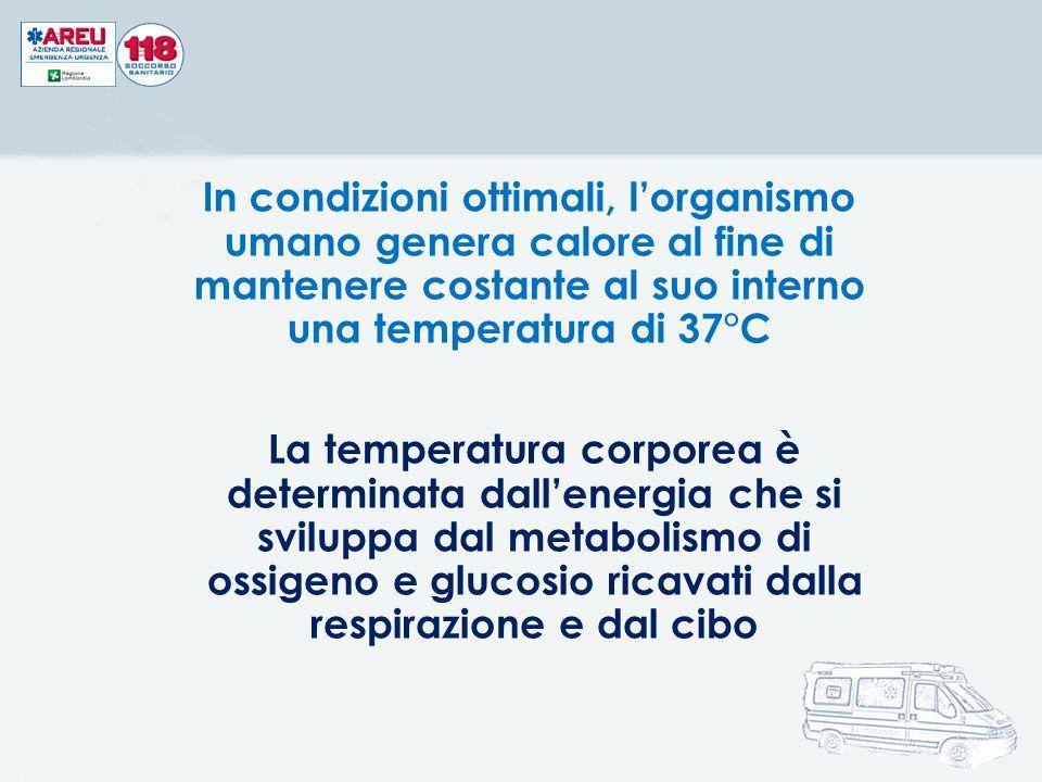 In condizioni ottimali, l'organismo umano genera calore al fine di mantenere costante al suo interno una temperatura di 37°C