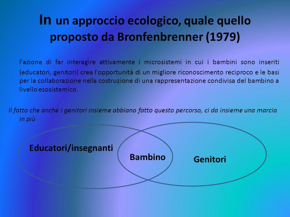 In un approccio ecologico, quale quello proposto da Bronfenbrenner (1979)