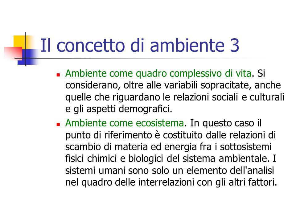 Il concetto di ambiente 3