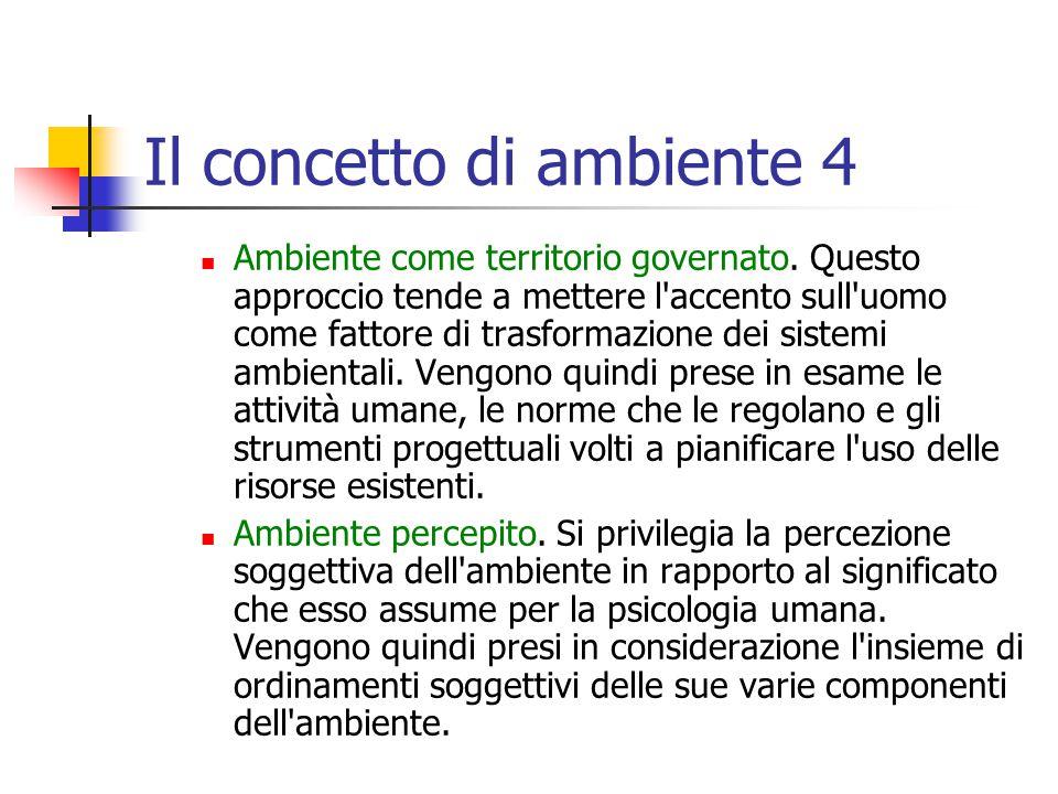 Il concetto di ambiente 4