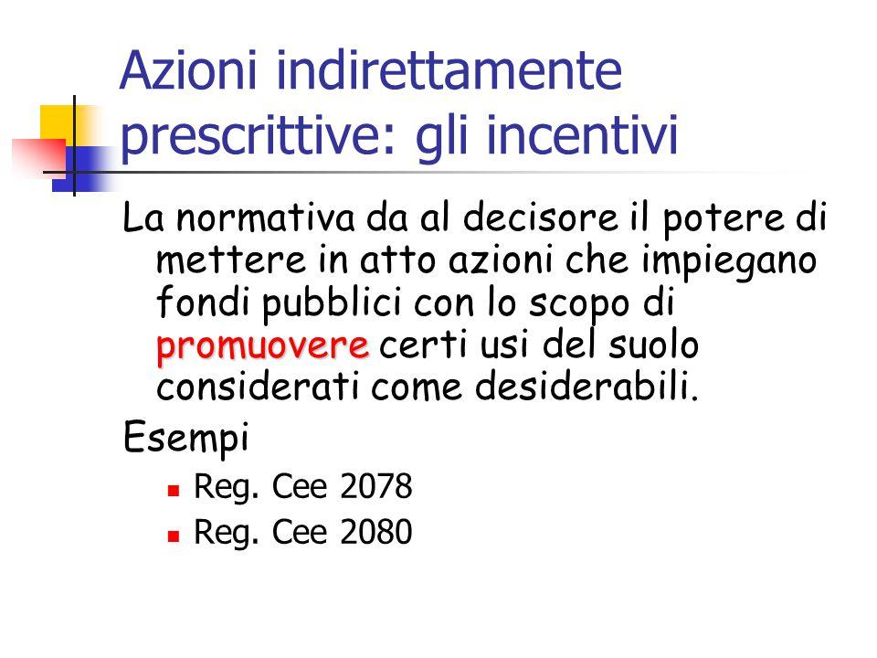 Azioni indirettamente prescrittive: gli incentivi