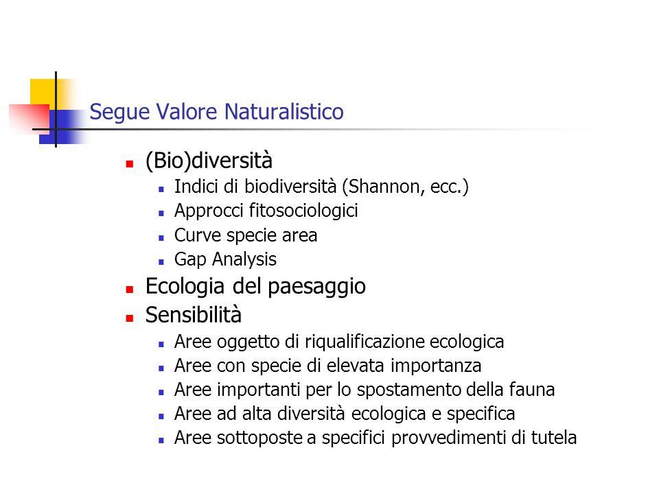 Segue Valore Naturalistico