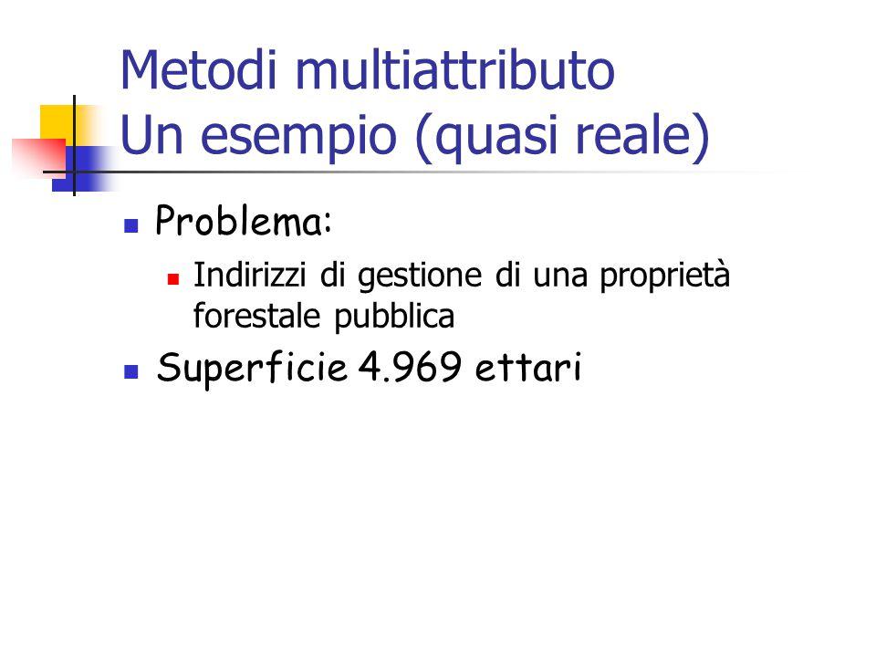 Metodi multiattributo Un esempio (quasi reale)