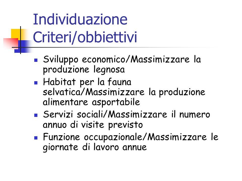 Individuazione Criteri/obbiettivi