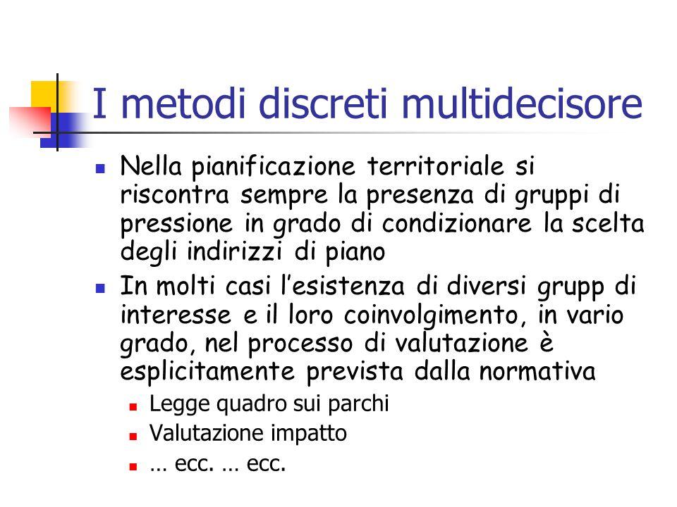 I metodi discreti multidecisore
