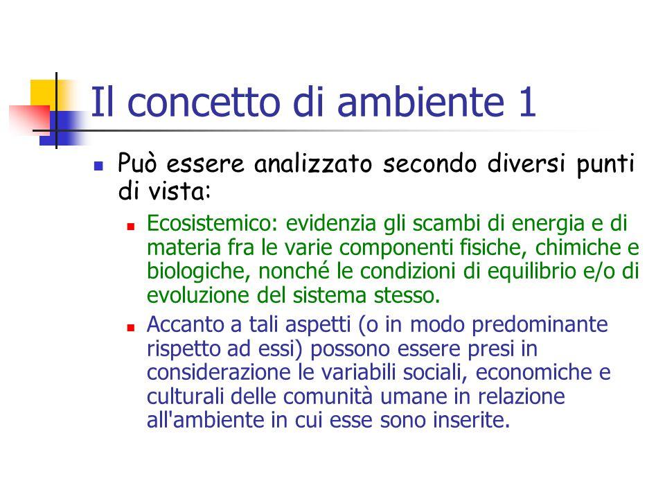 Il concetto di ambiente 1