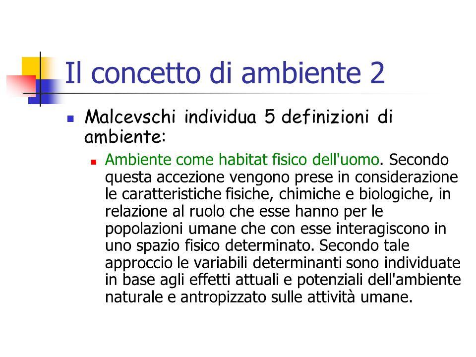 Il concetto di ambiente 2