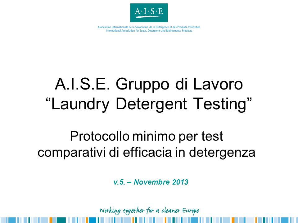 A.I.S.E. Gruppo di Lavoro Laundry Detergent Testing