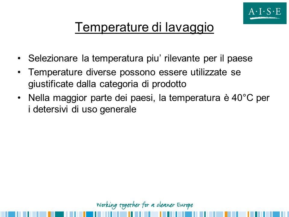 Temperature di lavaggio