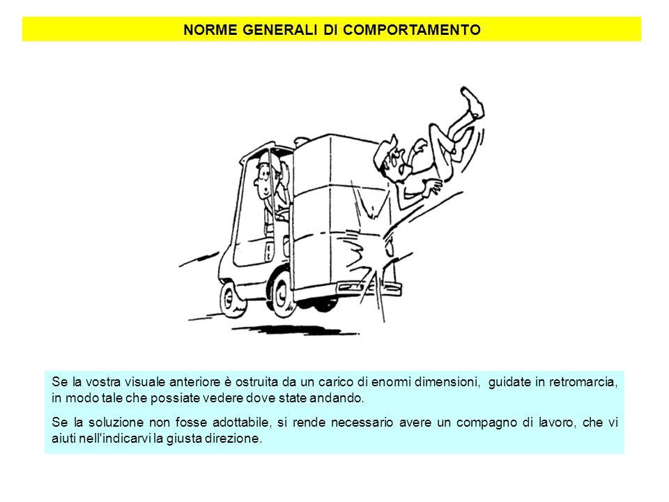 NORME GENERALI DI COMPORTAMENTO