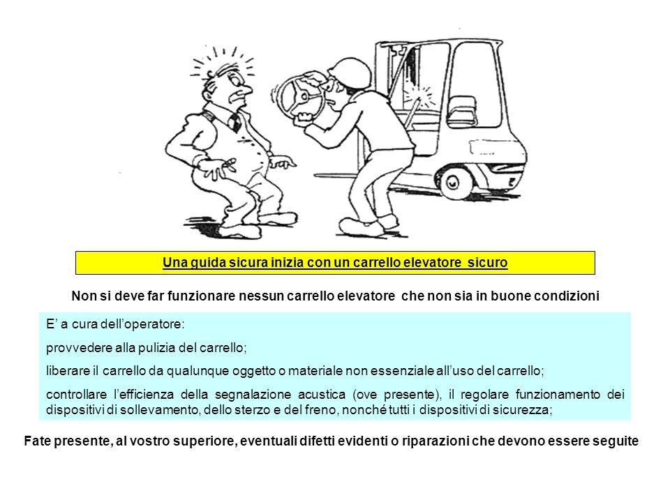 Una guida sicura inizia con un carrello elevatore sicuro