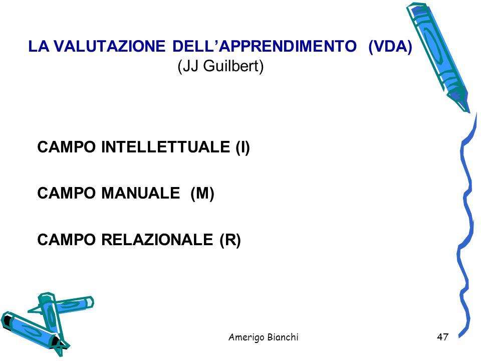 LA VALUTAZIONE DELL'APPRENDIMENTO (VDA) (JJ Guilbert)