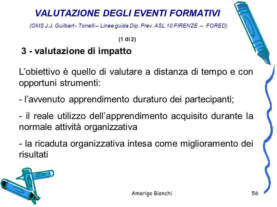 3 - valutazione di impatto