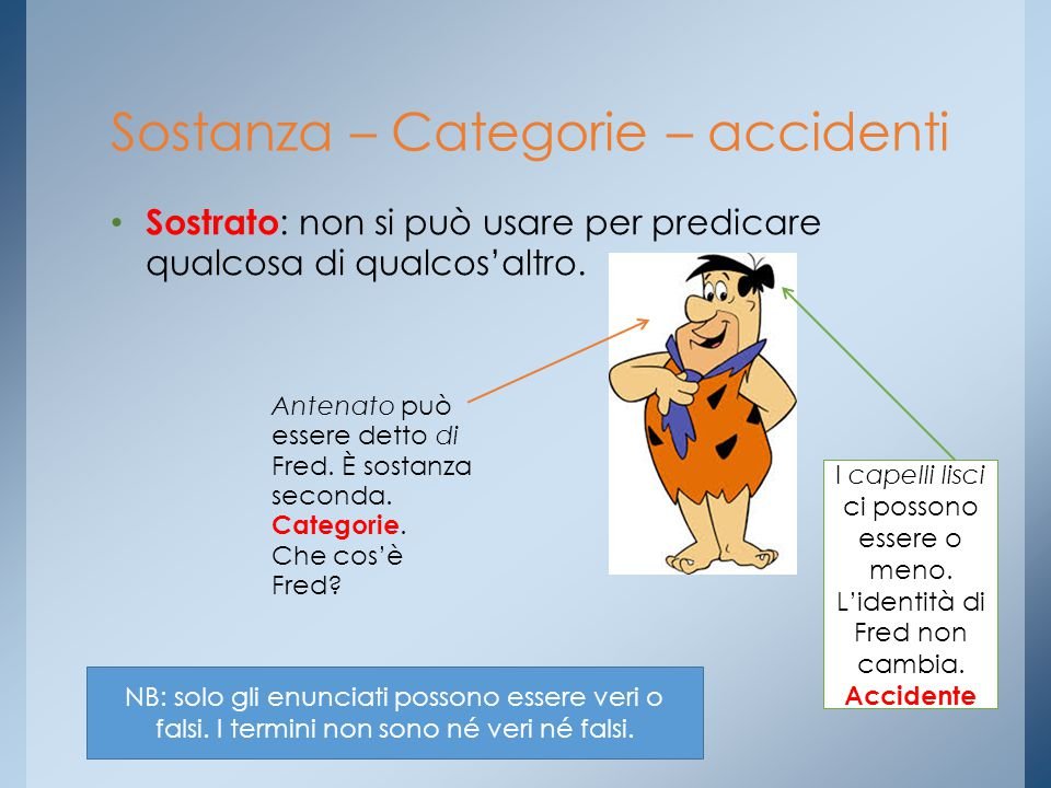 Sostanza – Categorie – accidenti