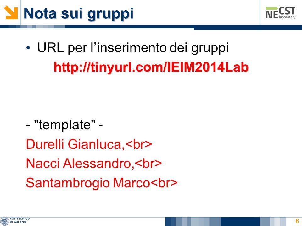 Nota sui gruppi URL per l'inserimento dei gruppi