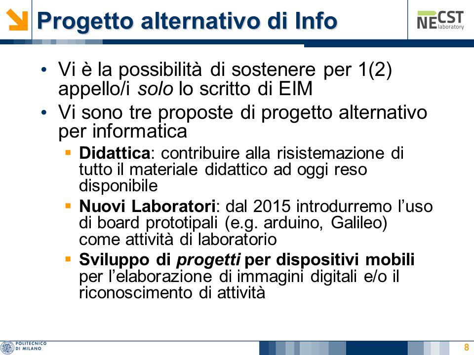 Progetto alternativo di Info