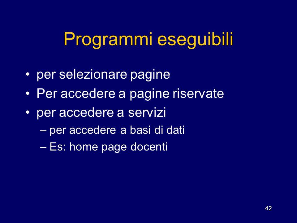 Programmi eseguibili per selezionare pagine