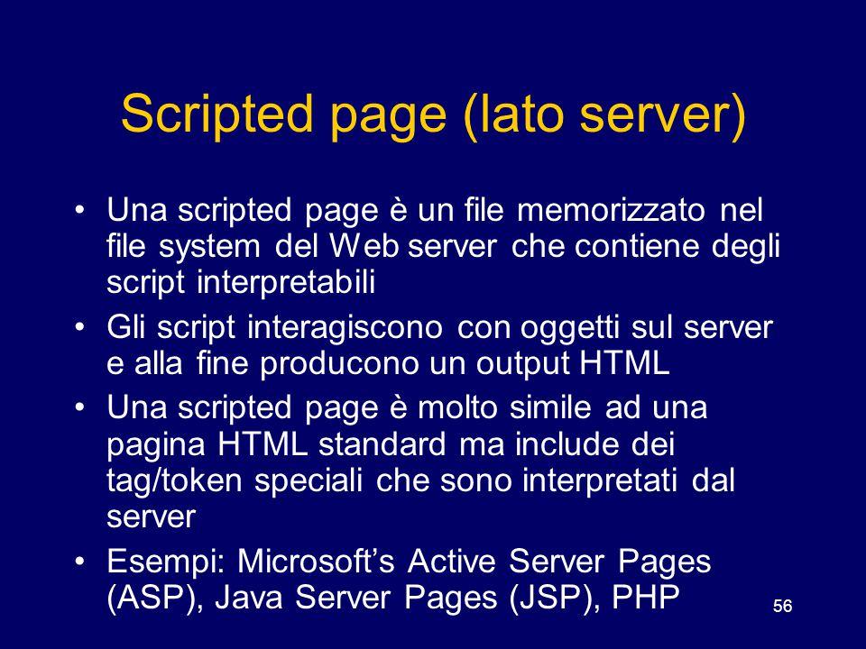 Scripted page (lato server)