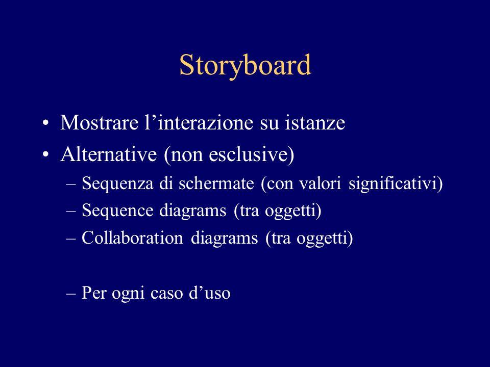 Storyboard Mostrare l'interazione su istanze