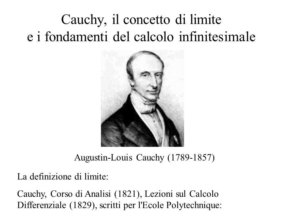 Cauchy, il concetto di limite e i fondamenti del calcolo infinitesimale